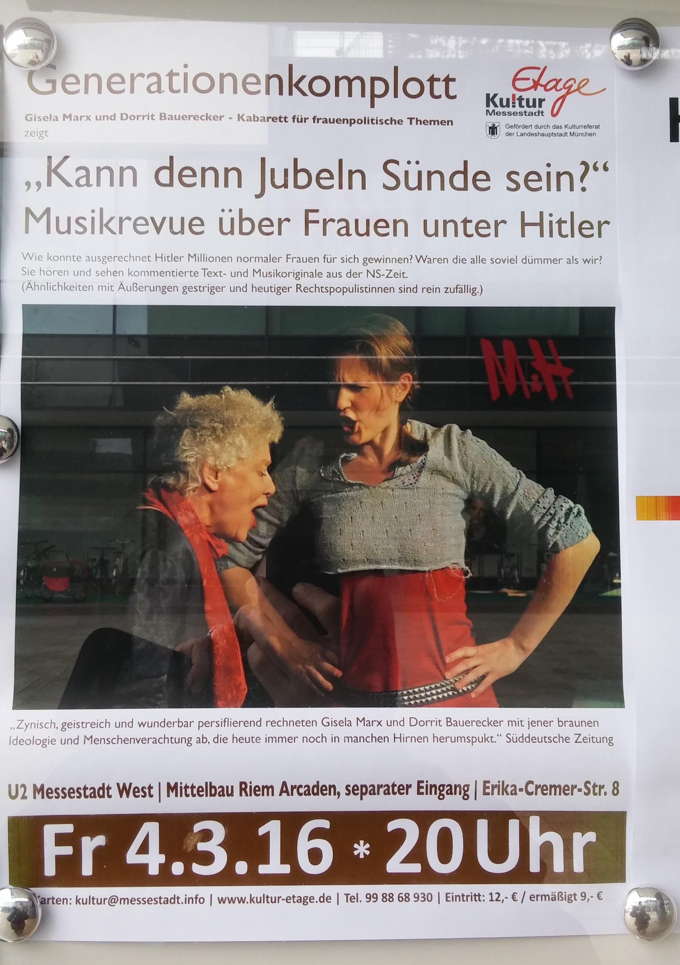 Frauen-Kabarett Plakat
